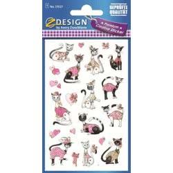 ZDesign Ζ Design Αυτοκολλητα Premium Creative Γατούλες 57027 4004182570272