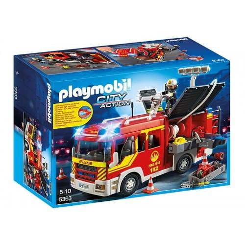 Playmobil Πυροσβεστικό όχημα με φάρο και σειρήνα 5363 4008789053633