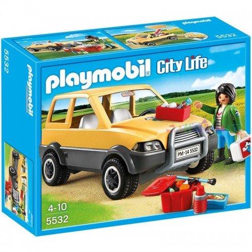 Playmobil Κτηνίατρος με αυτοκίνητο 5532 4008789055323