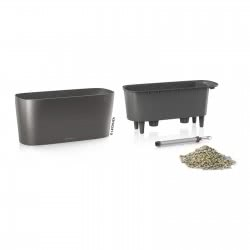 Lechusa LECHUZA ΑΥΤΟΠΟΤΙΖΟΜΕΝΗ ΓΛΑΣΤΡΑ DELTA 20 charcoal metallic All-in-One Set 15563 4008789155634