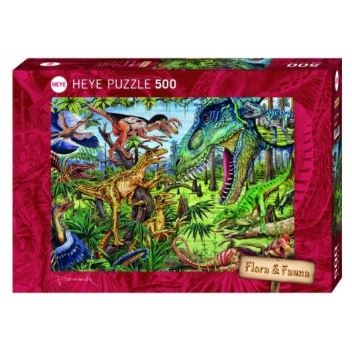 HEYE Παζλ 500 Flora & Fauna - Προϊστορικά ζώα 29660 4001689296605