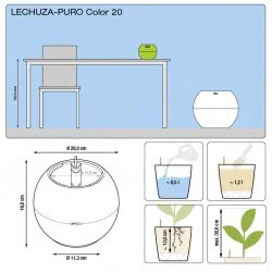 Lechusa LECHUZA ΑΥΤΟΠΟΤΙΖΟΜΕΝΗ ΓΛΑΣΤΡΑ PURO 20 Color glacier blue All-in-One Set 13361 4008789133618