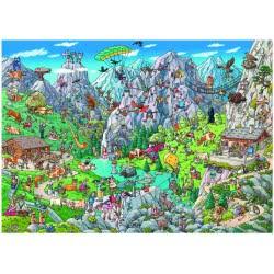 HEYE Παζλ 1000 Cartoon (τρίγωνο κουτί) Tanck - Άλπεις 29680 4001689296803