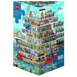HEYE Παζλ 1500 Cartoon (τρίγωνο κουτί) Lyon - Κρουαζιέρα 29697 4001689296971