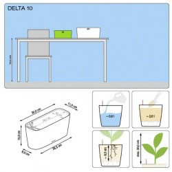 Lechusa LECHUZA ΑΥΤΟΠΟΤΙΖΟΜΕΝΗ ΓΛΑΣΤΡΑ DELTA 10 white high-gloss All-in-One Set 15460 4008789154606