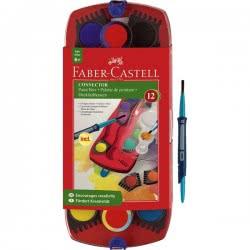 Faber-Castell Αποσπώμενες Νερομπογιές Connector Σε Σετ Των 12 Χρωμάτων 125023 4005401250234