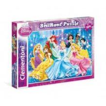 Clementoni Παζλ 104τεμ. Disney Princess Brilliant 1211-20128 8005125201280
