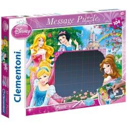 Clementoni Παζλ 104Τεμ. Disney Princess Message Puzzle 1211-20236 8005125202362