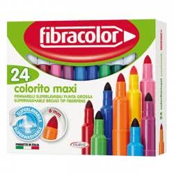 FIBRACOLOR Μαρκαδόρος  Colorito maxi 6mm 24χρώματα 8008621018208 8008621018208