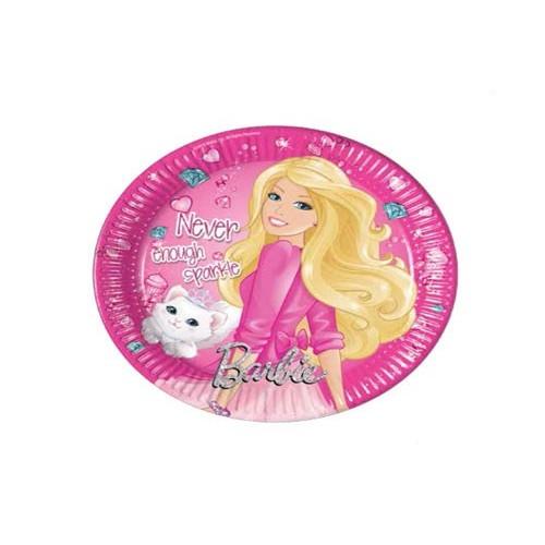 PROCOS Χάρτινα Πιάτα Μεσαία Barbie Sparkle 8 τμχ. 84190 5201184841907