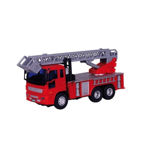 Toys-shop D.I Friction Αυτοκούρδιστο Τριβής Πυροσβεστικό Κλιμακοφόρο JA060522 6990416605224