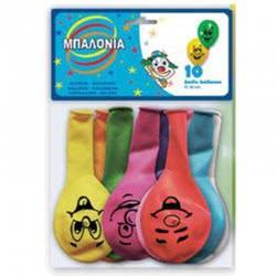 Diakakis imports Μπαλόνια 10 Τεμάχια 28 Εκ Smile 0088906 5205698158018