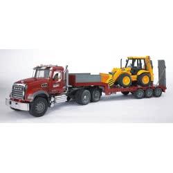 bruder Φορτηγό Με Επικαθήμενη Καρότσα Και JCB BR002813 4001702028138