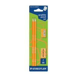 STAEDTLER Σετ Μολύβια - Γόμα - Ξύστρα Wopex Πορτοκαλί 918.180FSBK2P2 4007817613153