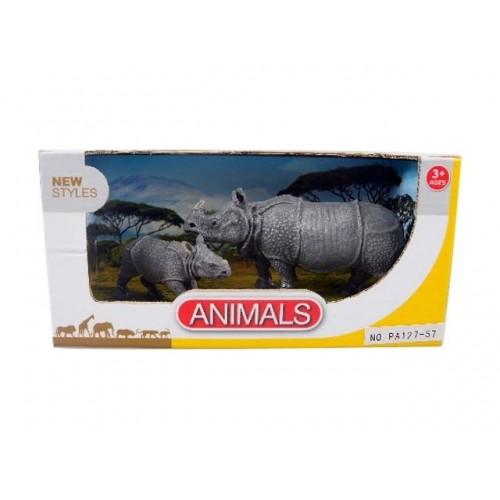 Toys-shop D.I Benteng Animals Ρινόκεροι Σετ JZ042262 5202015422623