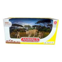 Toys-shop D.I Benteng Animals Αγριόγατα με τα 2 μωρά της Σετ JZ042266 5202015422661