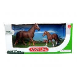 Toys-shop D.I Benteng Farm Life 2 Άλογα Σετ JZ042371 5202015423712