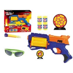 Toys-shop D.I FDX EVA POP GUN Όπλο με αφρώδες σφαίρες, στόχους και γυαλιά JG022679 5202015226795