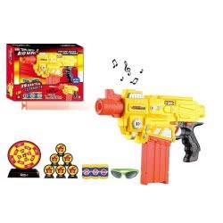 Toys-shop D.I FDX SEMI-AUTO CUN Όπλο μπαταρίας με αφρώδες σφαίρες, στόχους, γυαλιά, φως και ήχ JG022716 5202015227167