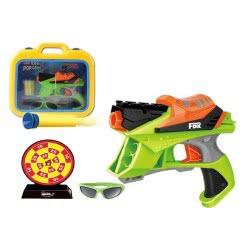 Toys-shop D.I FDX EVA POP GUN Όπλο σε βαλιτσάκι με αφρώδες σφαίρες, στόχο και γυαλιά JG022731 5202015227310