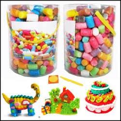 Toys-shop D.I Σετ Κατασκευών Σφουγγαροτουβλάκια JK068079 5202015680795