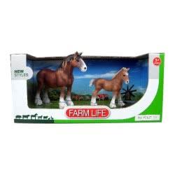 Toys-shop D.I Benteng Animals Farmlife Άλογα Σετ JZ042379 5202015423798