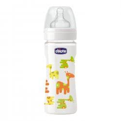 Chicco Μπιμπερό Nature Glass 240 Ml Giraffe A50-60043-10 8003670824558