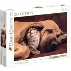 Clementoni Παζλ 500τεμ. High Quality Γατάκι με σκυλάκι 1220-35020 8005125350209