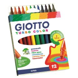 Giotto Turbo Color Blister Μαρκαδόροι 12 τεμ. 0071400 8000825071201