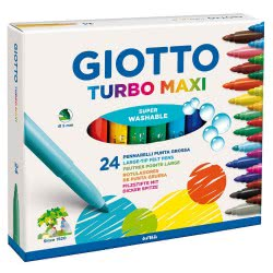 Giotto Μαρκαδόροι χοντροί Turbo Maxi 24τμχ 0455000 8000825453502