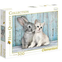 Clementoni Παζλ 500τεμ. High Quality Cat and Bunny 1220-35004 8005125350049