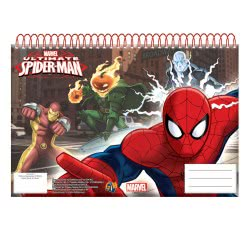 GIM Μπλοκ Ζωγραφικής A4 Σπιράλ 30Φ Spiderman Ultiimate 337-62413 5204549081567