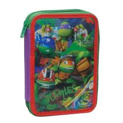GIM Κασετίνα Διπλή Ninja Turtles 334-04100 5204549085015