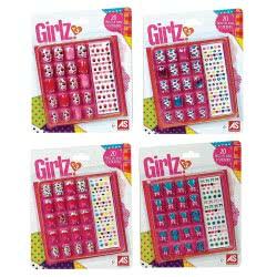 As company Girlz 20 Αυτοκόλλητα Νύχια- 4 Σχέδια Nails Μικρά 1080-08131 5203068081317