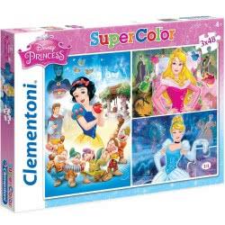 Clementoni Παζλ 3x48τεμ Super Color Disney Princess 1200-25211 8005125252114