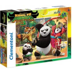 Clementoni Παζλ 60Τεμ Maxi Super Color Kung Fu Panda 1200-26580 8005125265800