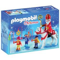 Playmobil Ο Άη Βασίλης Με Τα Παιδάκια 5593 4008789055934