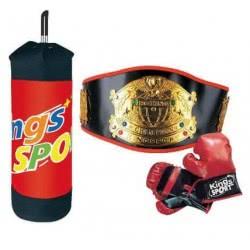 Toys-shop D.I Σετ Μποξ με σάκο, γάντια και ζώνη Boxing set JS048902 6990416489022
