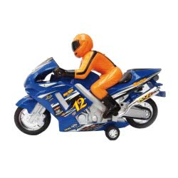 Toys-shop D.I Friction Αυτοκούρδιστο Τριβής Μοτοσυκλέτα Πίστας με αναβάτη JA056226 5262088562268