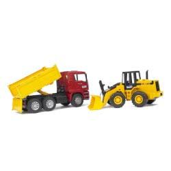 bruder Φορτηγό χωματουργικό MAN με φορτωτή BR002752 4001702027520