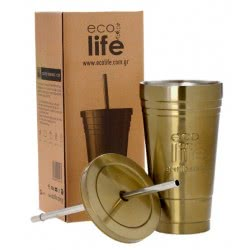 eco life ECOLIFE COFFEE THERMOSCUP ΜΠΟΥΚΑΛΙ ΘΕΡΜΟΣ 450ml - BRONZE 33-BO-4008 5208009001485