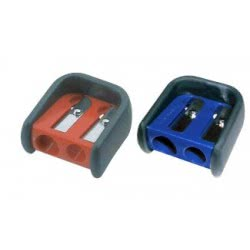 Faber-Castell Double hole sharpener rubber grip, blue % Red 184901 6933256608017