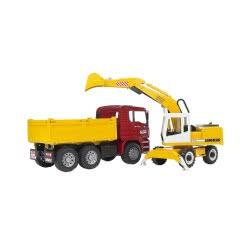 bruder Φορτηγό Χωματουργικό MAN Με Εκσκαφέα Liebherr/4 BR002751 4001702027513