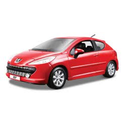 Bburago 1/24 Peugeot 207 KOKKINO 18/22102 4893993221028