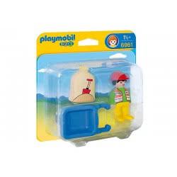 Playmobil Εργάτης με καροτσάκι 6961 4008789069610