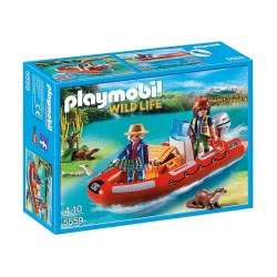 Playmobil Φουσκωτό σκάφος με εξερευνητές 5559 4008789055590