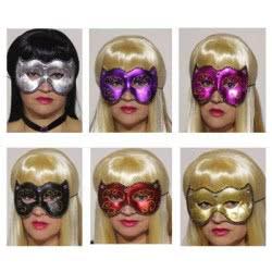 maskarata Μάσκες Μεταλλιζέ Με Σχέδια - 6 Χρώματα Α0418 5200304404183