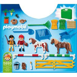 Playmobil Βαλιτσάκι Παιδάκια και Πόνυ 5893 4008789058935