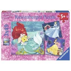 Ravensburger Παζλ 3x49τεμ. Disney Πριγκίπισσες 09350 4005556093502