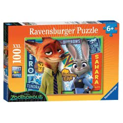 Ravensburger Παζλ 100τεμ. XXL Disney Zootropolis 05-10599 4005556105991